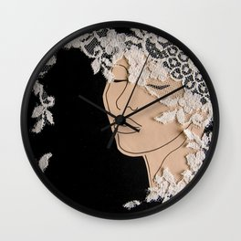 Woman and Lace Garden Wall Clock
