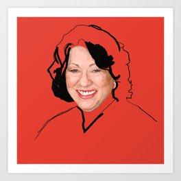 Supreme Court Justice Sonia Sotomayor Art Print