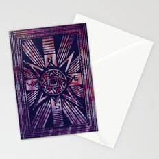 colored compass Stationery Cards