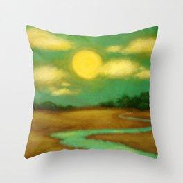 Sunny River Throw Pillow