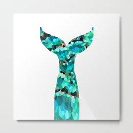 Mermaid Tail Turquoise Mint Aqua Metal Print