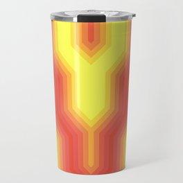 Retro Chevron Sunny Travel Mug