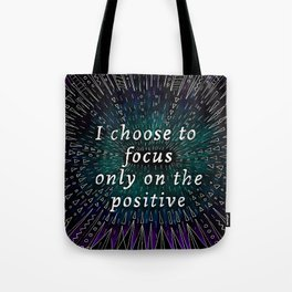 Positive affirmation, mindfulness quote, hand-drawn lettering, yoga art, yoga drawing, motivational  Tote Bag