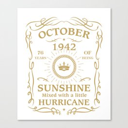 October 1942 Sunshine mixed Hurricane Canvas Print