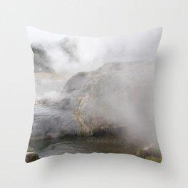 Steam in New Zealand Throw Pillow