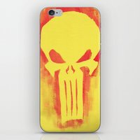 punisher iPhone & iPod Skins featuring Punisher by irvpaj