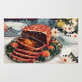 Roast with Mushrooms Rug