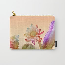 Peach Cactus Carry-All Pouch