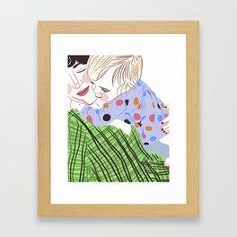 Neck Hugs Framed Art Print