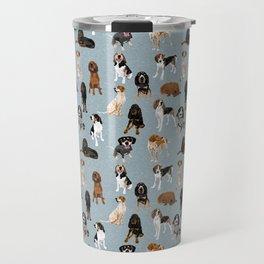 Coonhounds on Blue Travel Mug