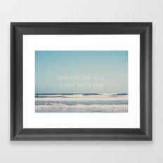 dream higher than the sky & deeper than the ocean ... Framed Art Print