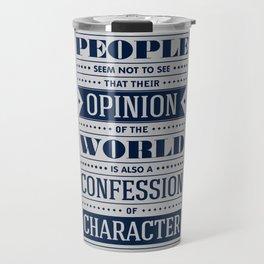 Lab No. 4 People Seem Not to Ralph Waldo Emerson Inspirational Quote Travel Mug