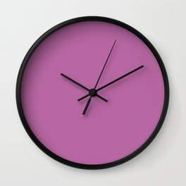 February Bouquet ~ Orchid Violet Wall Clock