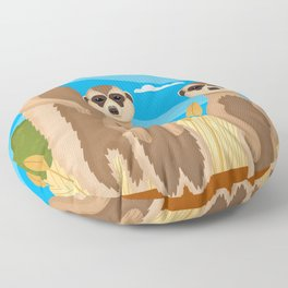 Meerkats Floor Pillow