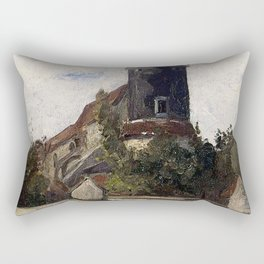 The telegraph tower in Montmartre by Camille Pissarro Rectangular Pillow