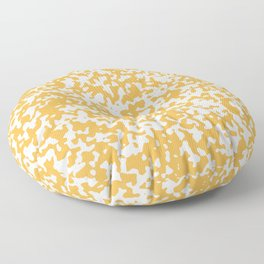 Small Spots - White and Pastel Orange Floor Pillow