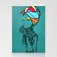 erykah badu Stationery Cards featuring ERYKAH by Anwar Rafiee