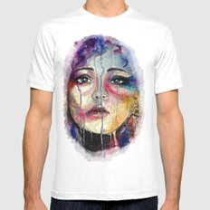 Colourful Tears MEDIUM White Mens Fitted Tee