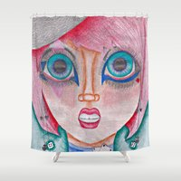 poker Shower Curtains featuring poker face by Scenccentric Creations