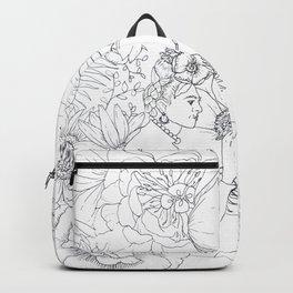 Open: Frida at her Easel Backpack
