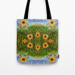 Sunflower Dancing in the Moonlight Tote Bag