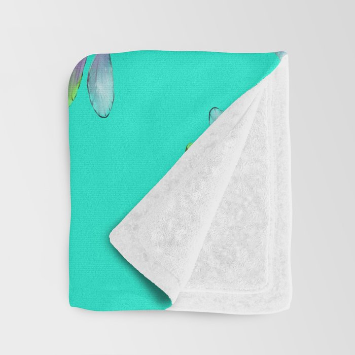 Dragonflies In Aqua and Purple Throw Blanket