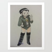 wwe Art Prints featuring WWE CM Punk Wrestlemania 29 by Juui-Chan