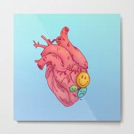 SMILEY HEART Metal Print