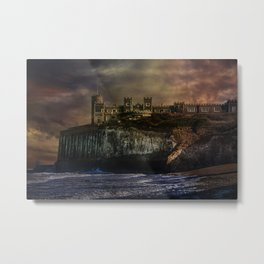 Storm Front On The Seafront Metal Print