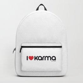 I Love Karma Backpack