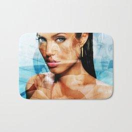 faces of Angelina Jolie2 Bath Mat