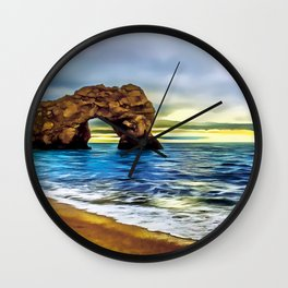 Durdle Door (Painting)  Wall Clock