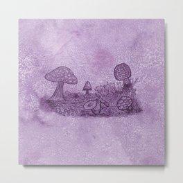 Fungi Meadow Metal Print
