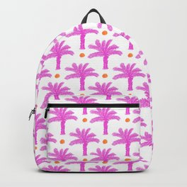 Pink Palm Trees Print Hot Pink Tropical Pattern Backpack