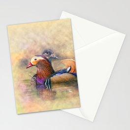 Watercolor Mandarin Ducks Feng Shui Symbol Stationery Cards