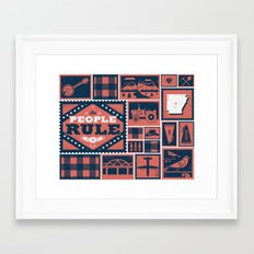 Arkansas Framed Art Print