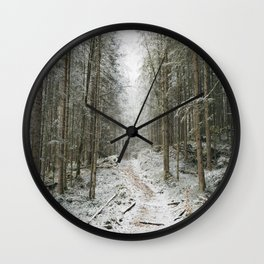 For now I am Winter - Landscape photography Wall Clock