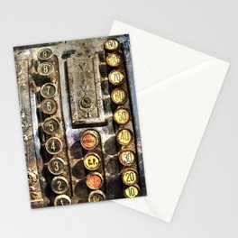 Antique cash register  Stationery Cards
