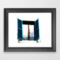 Window to the Present Framed Art Print