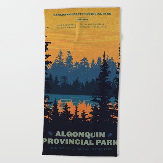 Algonquin Park Poster Beach Towel
