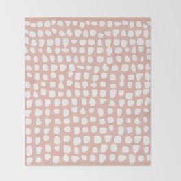 Dots / Pink Throw Blanket