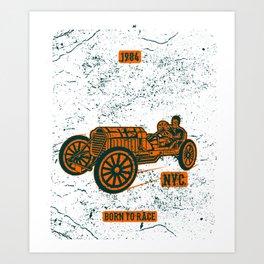 Championship Speed Race Classic Racing Art Print