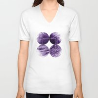 circles V-neck T-shirts featuring CIRCLES by Charlotte Dandy