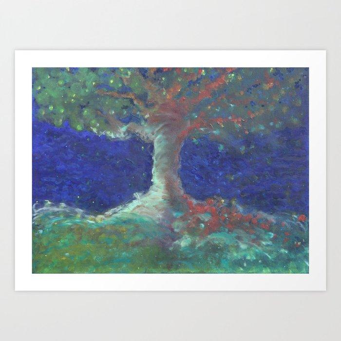Between the Tree Art Print