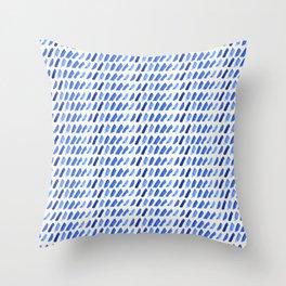 shibori dash Throw Pillow