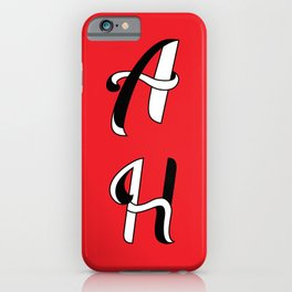 Letter love red typography iPhone Case