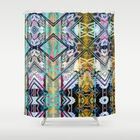 obey Shower Curtains featuring Obey hub vision upfront. by Juan Antonio Zamarripa [Esqueda]