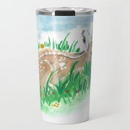 Shy Bambi Deer Travel Mug