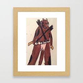 Cow warrior no name yet (Bunny Kill Framed Art Print