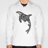killer whale Hoodies featuring Killer Whale by Emma Barker